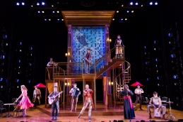 The cast of Shakespeare Theatre Company's production of The Taming of the Shrew, directed by Ed Sylvanus Iskandar. (Scott Suchman)