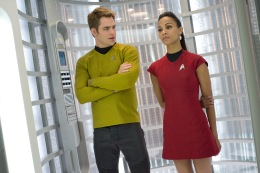 "Chris Pine and Zoe Saldana in 2013's ""Star Trek into Darkness."" (Zade Rosenthal / Paramount)"