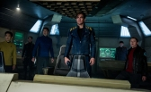 "John Cho, Anton Yelchin, Karl Urban, Chris Pine, Zachary Quinto, and Simon Pegg in 2016's ""Star Trek Beyond."" (Kimberly French / Paramount)"