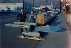 The U.S.S. Enterprise studio model in 1965. (CBS Consumer Products / Star Trek Archive)