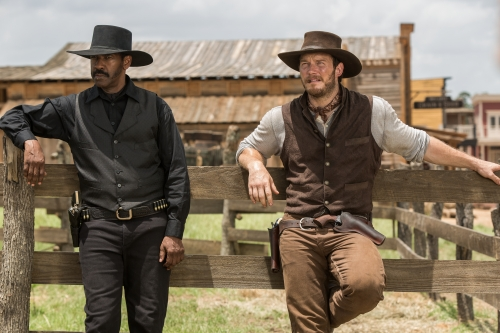 Denzel Washington and Chris Pratt star in Metro-Goldwyn-Mayer Pictures and Columbia Pictures' THE MAGNIFICENT SEVEN.