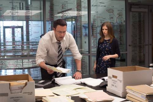 "Ben Affeck and Anna Kendrick in ""The Accountant."" (Chuck Zlotnick/Warner Bros.)"
