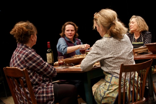 Hungry<br /> Public Theatre<br /> LuEster<br /> HUNGRY<br /> Written and Directed by Richard Nelson<br /> Featuring Meg Gibson, Lynn Hawley, Roberta Maxwell, Maryann Plunkett, Jay O. Sanders, and Amy Warren<br /> Sets &amp; Costumes Susan Hilferty<br /> Lighting Jennifer Tipton